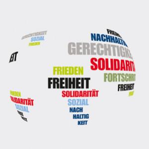 Globus mit SPD-Zielen